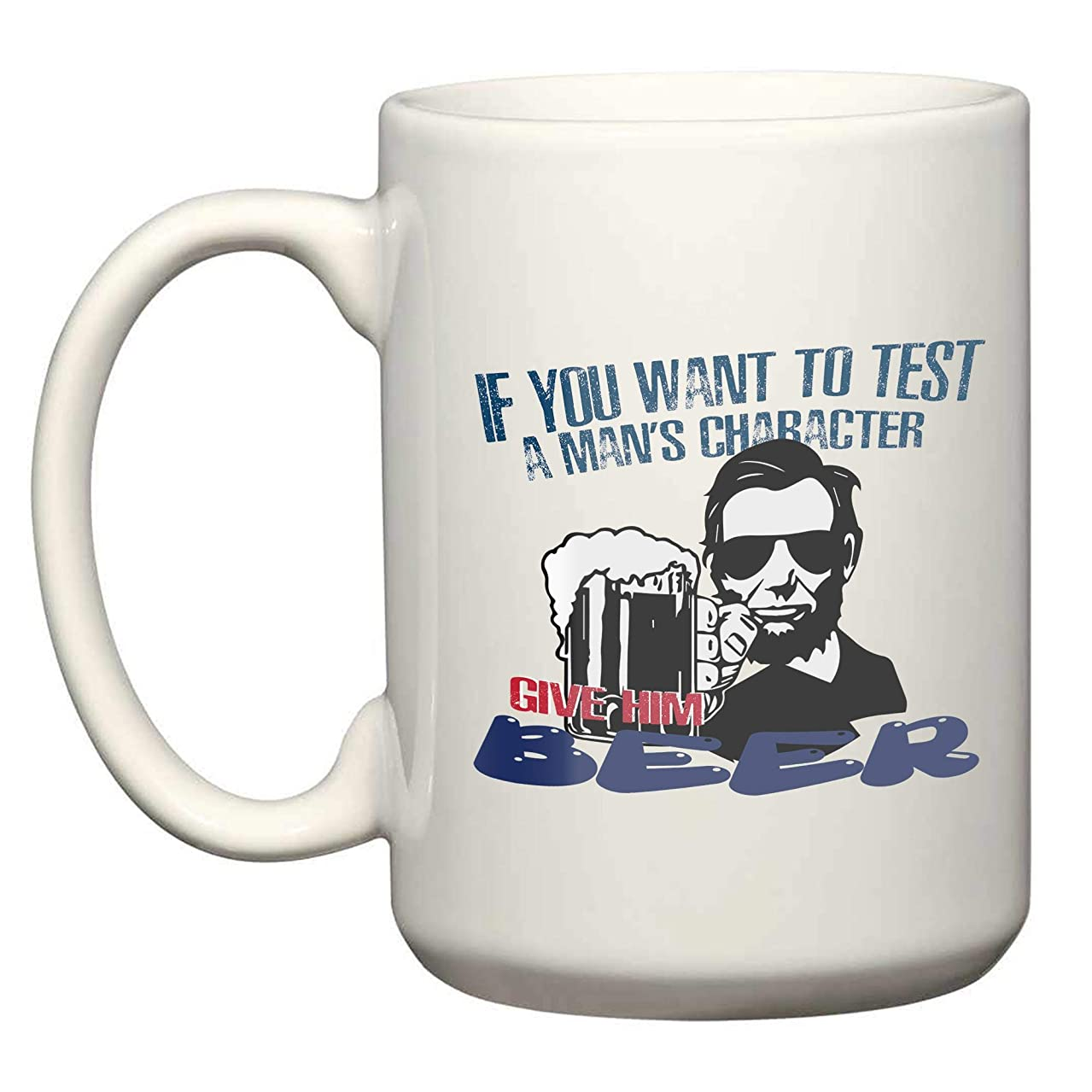Abe Lincoln Beer 3 15 Oz White Coffee Mugs - Gifts for Independence Day