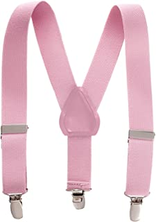 Kids and Baby Elastic Adjustable Solid Color Suspenders...