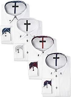 [アトリエサンロクゴ] 長袖 ワイシャツ デザイン Yシャツ 4枚セット 形態安定 快適 ビジネスシャツ sun-ml-sbu-1109-4set メンズ