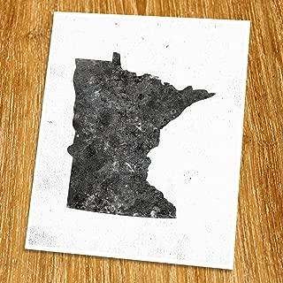 Minnesota Map Print (Unframed), Minimalist Map Art, Scandinavian Map Poster, Industrial, Loft, Hipster, Living Room Decor, 8x10