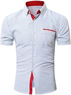 Mens Tee Top Business Workwear Dress Shirt Button Down Shirts