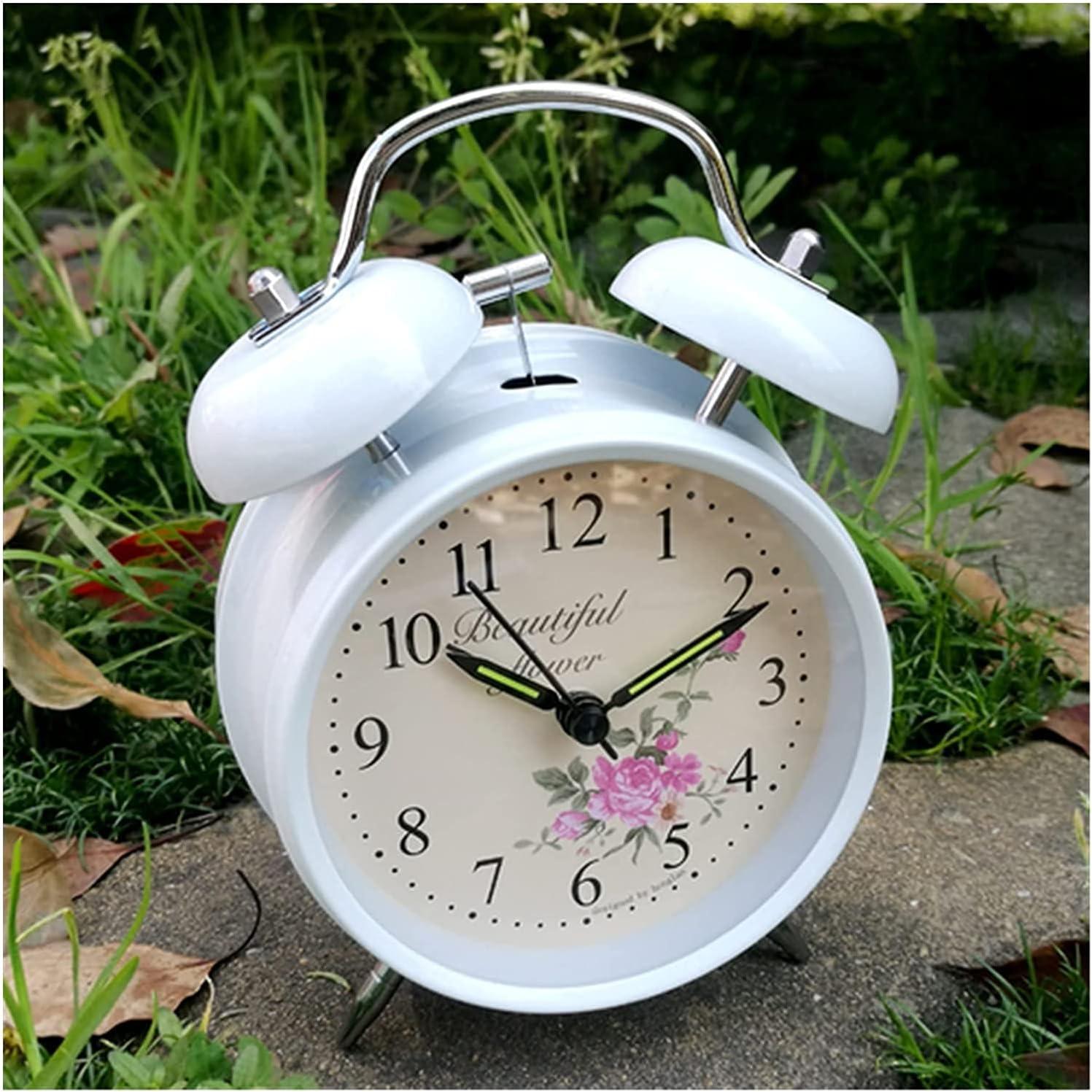 New Orleans Mall Tophacker Alarm favorite Clock Metal Table Bedsi Bell Bedroom