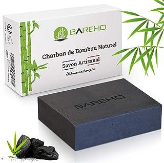 BAREHO : Savon Au Charbon De Bambou Actif, FRANCAIS, 100% Naturel et Artisanal. Végétalien, Antibactérien, Lutte Contre l'...