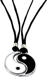 Memories Pack 2 Colgantes Yin/Yang Ajustable de Acero Inoxidable Ajustable | Collar Masculino/Femenino/Unisex | Regalo Par...