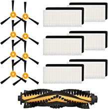 isinlive Accessory Kit Compatible ECOVACS DEEBOT N79S DEEBOT N79 Robotic Vacuum, 15 Pack (1 Main Brush + 6 Filters + 8 Side Brushes)