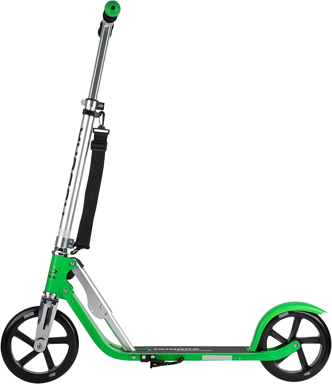 HUDORA 14751 BigWheel 205-Das Original mit RX Pro Technologie-Tret-Roller klappbar-City-Scooter, türkis Grass Grün