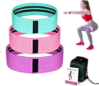 Womdee Resistance Bands for Legs and Butt,Exercise Bands Hip Bands Wide Booty Bands Workout Bands Sports Fitness Bands Str...