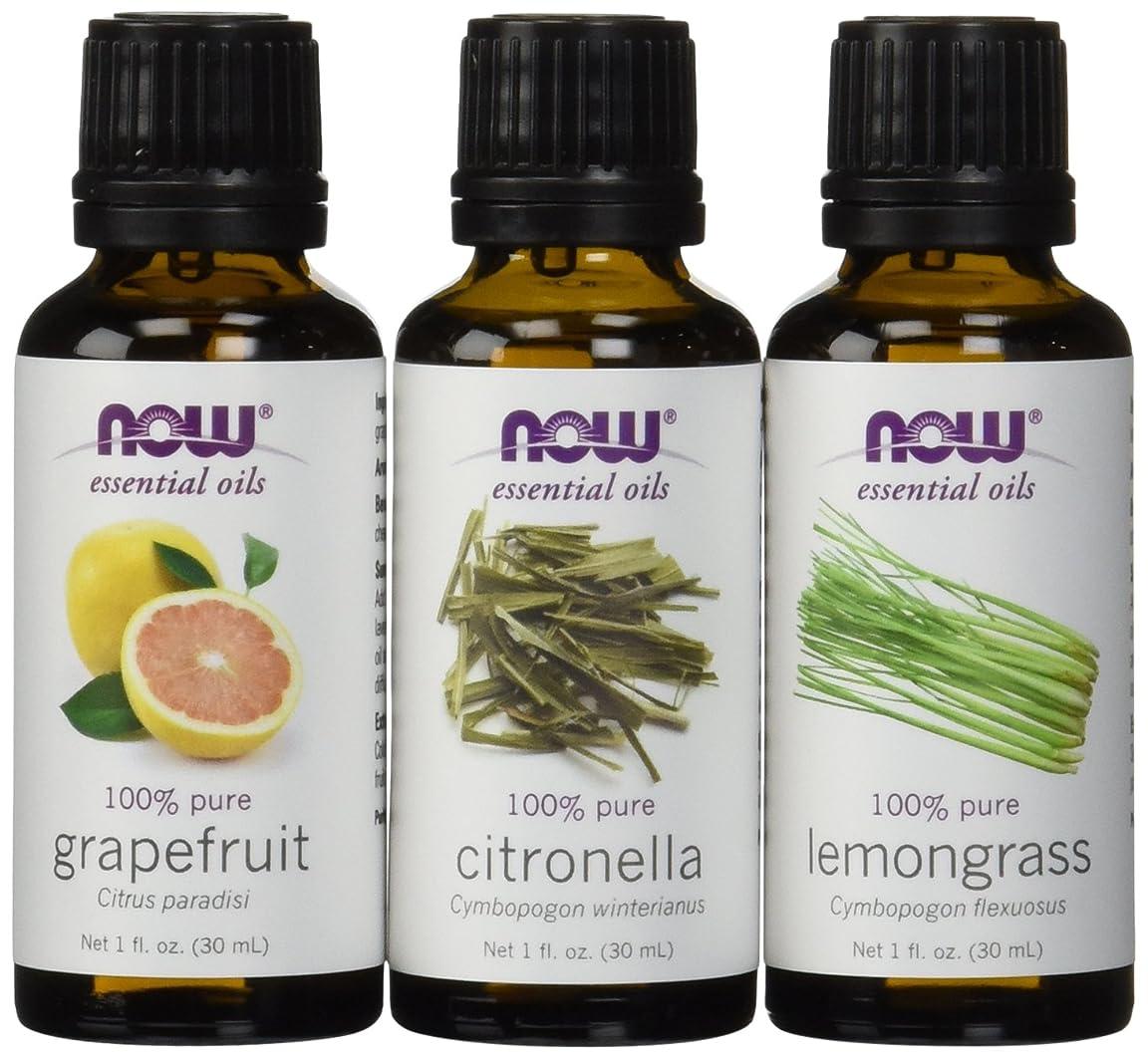 パリティクレーンログ虫除けに ナウフーズ エッセンシャルオイルブレンド:シトロネラ?レモングラス?グレープフルーツ[各30ml] NOW Essential Oils: Mosquito Repellent Blend - Citronella, Lemongrass, Grapefruit 並行輸入品