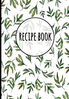 Recipe Book: Peony Floral Flower Print (9) - Recipe Organizer, Personalized Blank Recipe Journal To Write In, Collected Re...