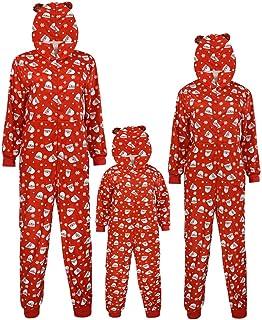 K-Youth Pijamas Familiares Navideñas Body Bebe Mono Niños Mameluco Bebé Niña Recien Nacido Conjunto Bebe Niño Navidad Ropa para Padres e Hijos Invierno Ropa de Dormir Mujer Hombre