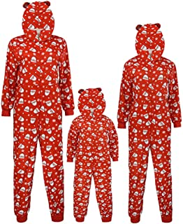 Aviat Matching Family Pajamas Sets Christmas,Soft&Casual Sleepwear,Long Sleeve Hooded Romper Jumpsuit Xmas Loungewear Fit for Party Holiday,Decor for Women,Men,Kids,Boys,Girls,Festive PJs