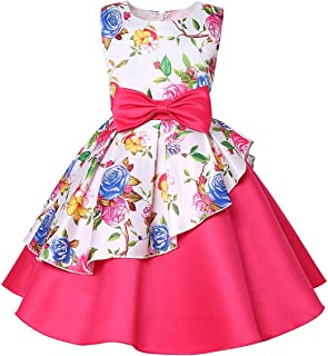 Mu yangren Girl Dress Wedding Bridesmaid Party Flower Princess Kids Dresses