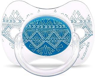 Suavinex 3162098 Couture Fizyolojik Silikon Emzik, 4-18 Ay, Mavi