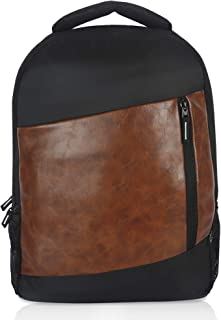 Digitek 27 liters Faux Leather Mature Laptop Backpack for Men and Women for 15.6 Inch Laptops (Chestnut Brown)