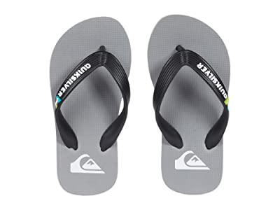 Quiksilver Kids Molokai Youth (Toddler/Little Kid/Big Kid) (Black/Grey/Grey) Boys Shoes