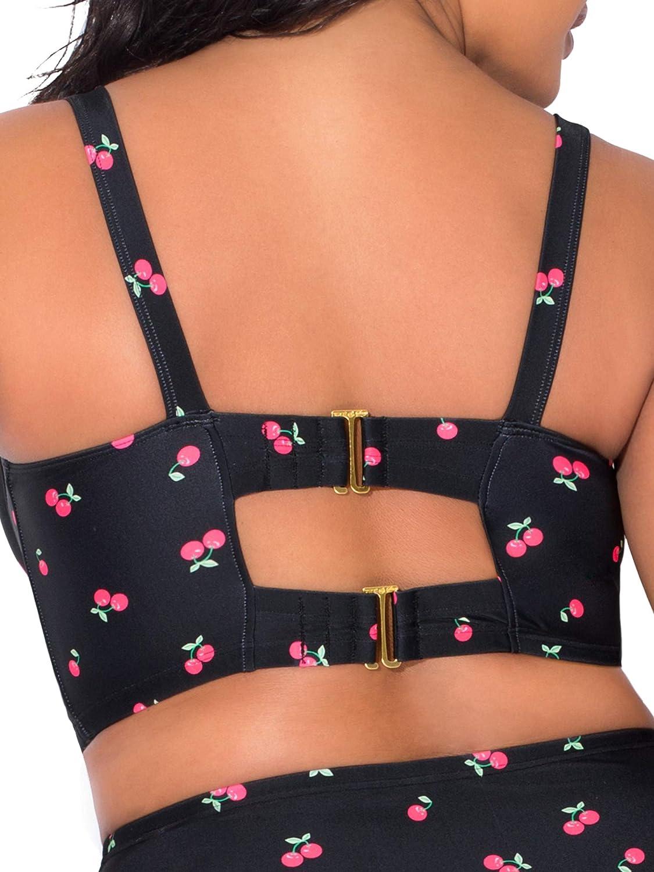 Smart & Sexy Women's Plus-Size Long Lined Underwire Bikini Top
