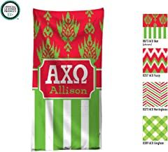 Alpha Chi Omega Beach Towel / Pool Towel with Personalization / Monogrammed Beach Towel / Personalized Pool Towel / AXO Big Little / Rush Gift