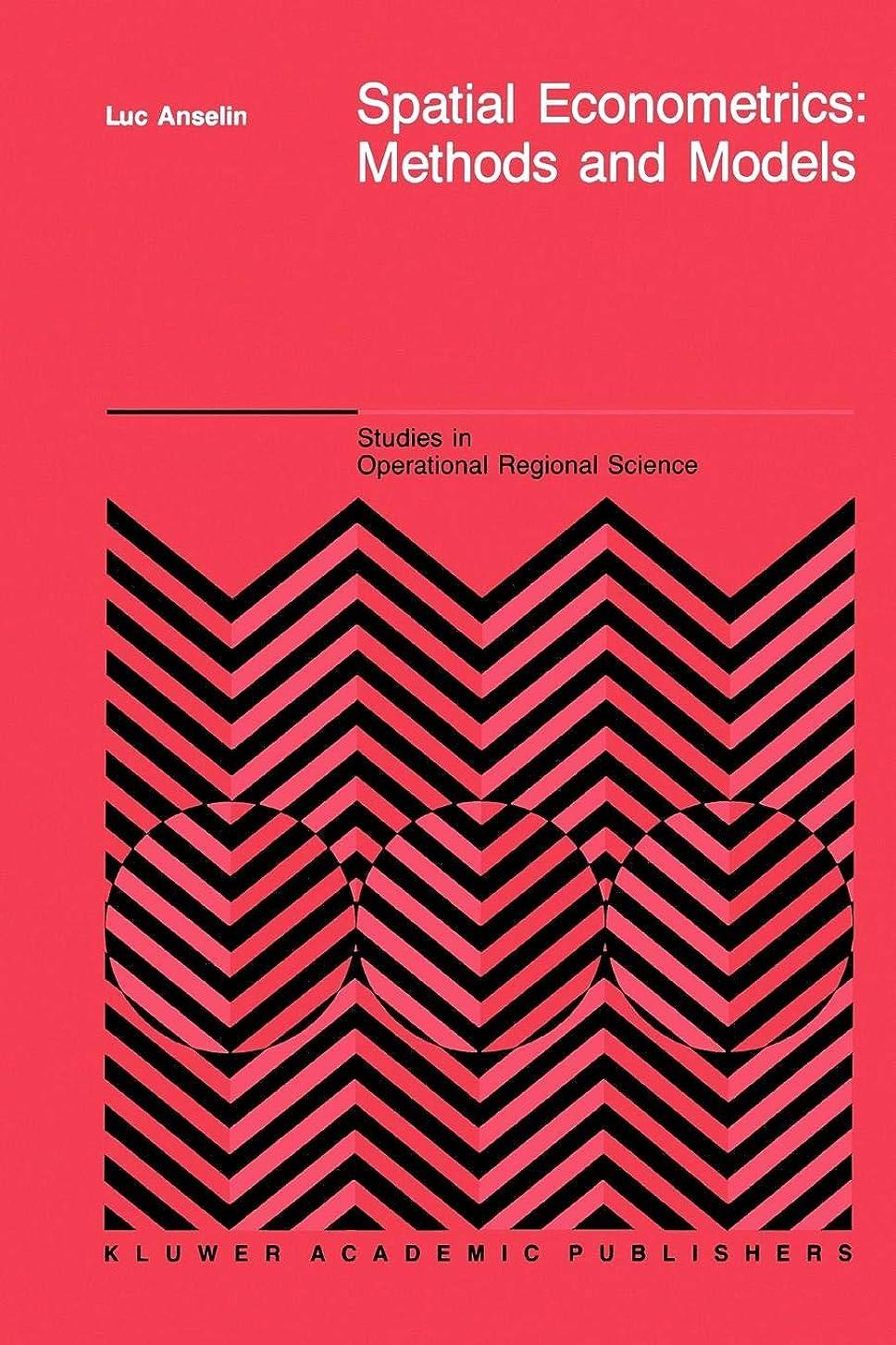 Spatial Econometrics: Methods And Models (Studies In Operational Regional Science)
