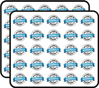 Nashville City USA Welcome Label Art Decor Sticker for Scrapbooking, Calendars, Arts, Kids DIY Crafts, Album, Bullet Journals 50 Pack
