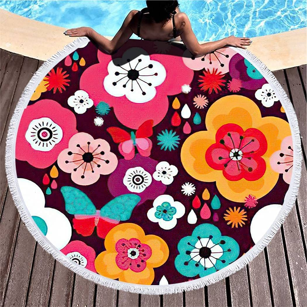 Quick Dry excellence Beach Towels Microfiber Trust Butterfly Blossom Fi Superfine