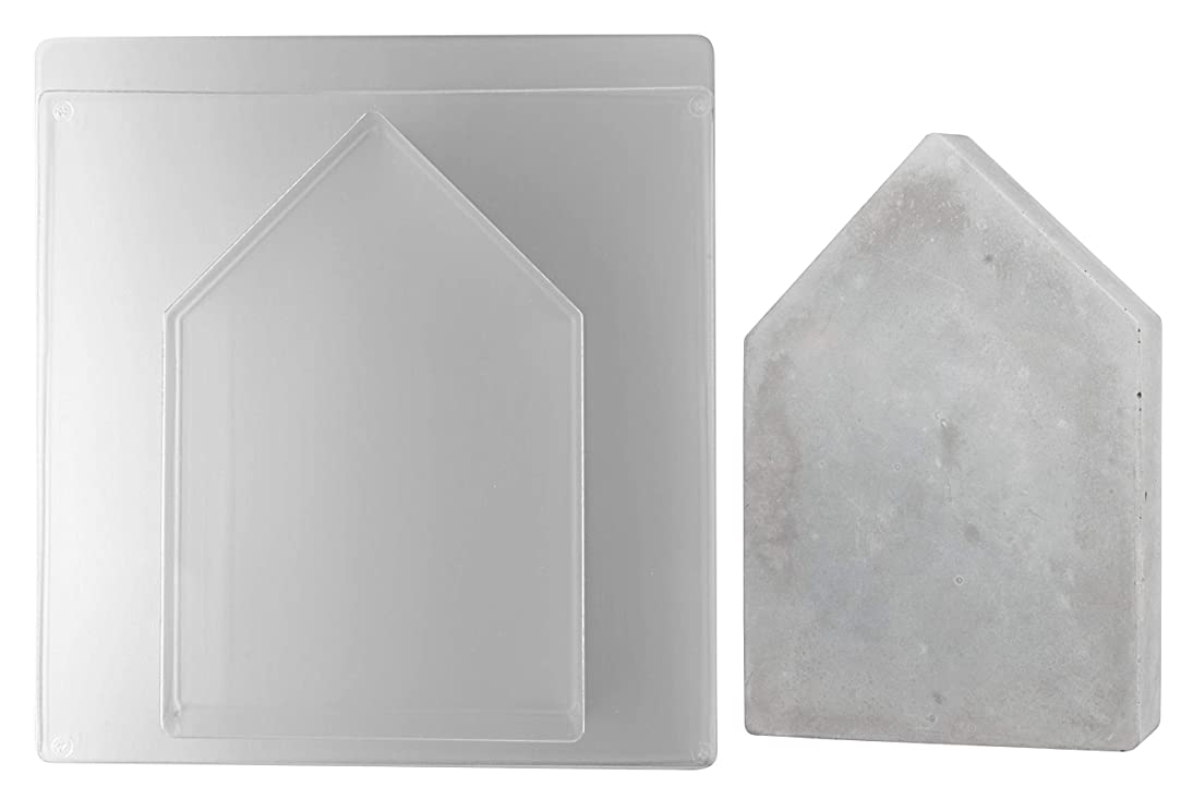 Rayher House Casting Mould, Transparent, 16 x 23.5 x 4 cm