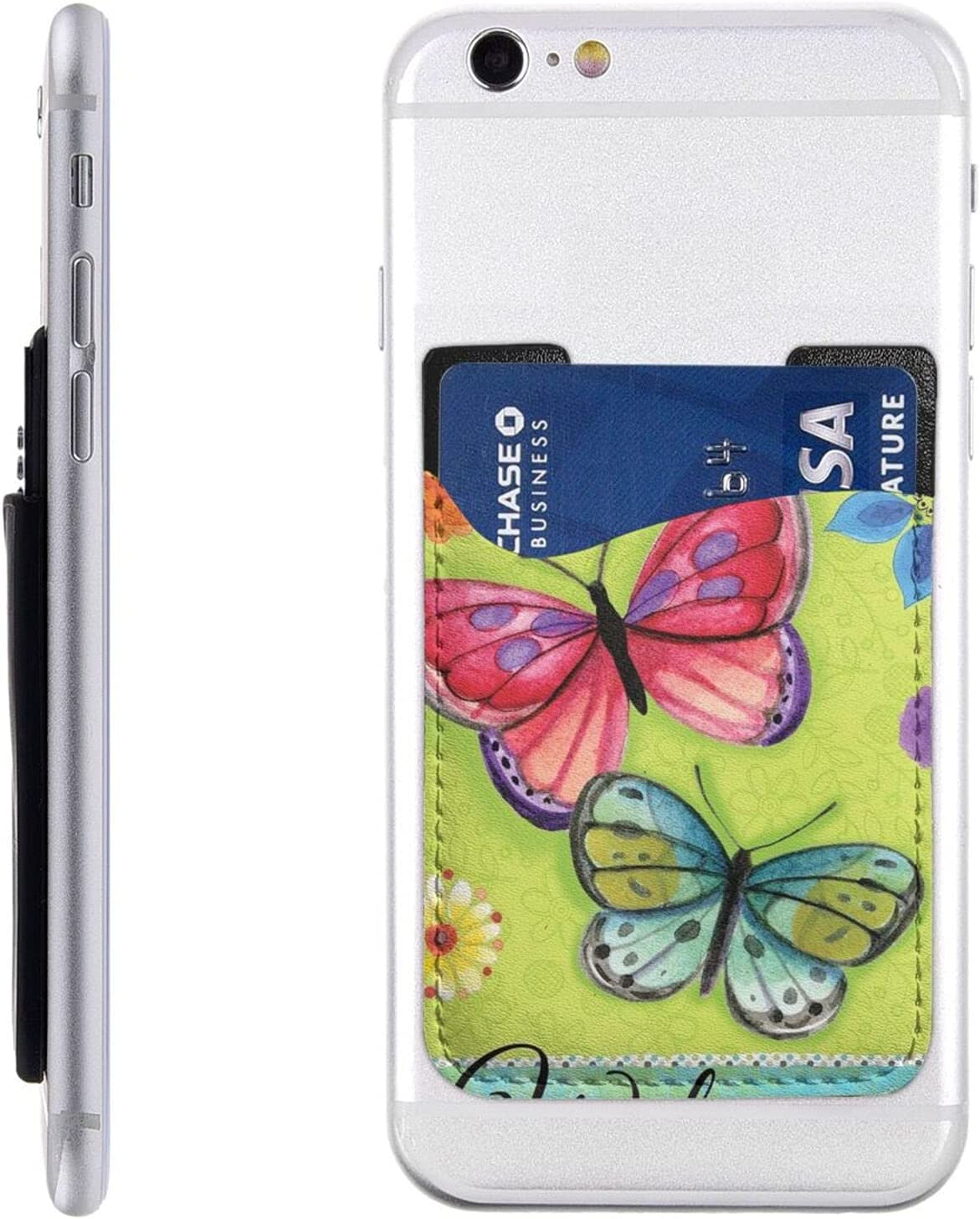 Spring Butterfly Rose Flowers New Orleans Mall Direct store Phone Cell Holder Card Stick