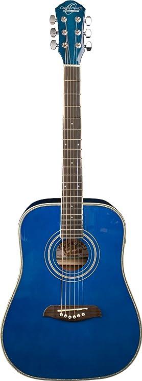 Oscar Schmidt Model OG1SM Spalted Maple 3//4 Size Dreadnought Acoustic Guitar