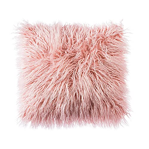 Ojia Deluxe Home Decorative Super Soft Plush Mongolian Faux Fur Throw Pillow  Cover Cushion Case ( bbfcd1166e