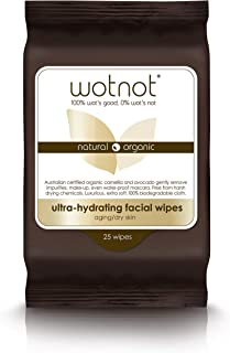 Wotnot Ultra-hydrating Face Wipes for Dry and Sensitive Skin, 25 Count