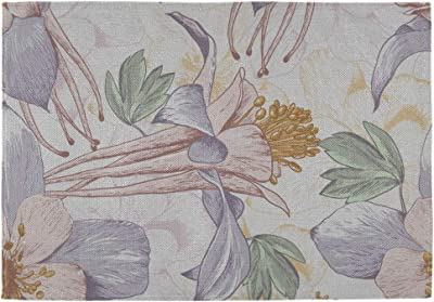 """Windham black back Set of 2 Tapestry Placemats 13/""""x19/"""",FLOWERS /& BIRDS BLOOM"""