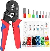 Andoer HSC8 6-4 0,25-10m㎡ AWG23-7 Kit de ferramentas de crimpagem de virola Alicate de crimpagem de alta dureza com termin...