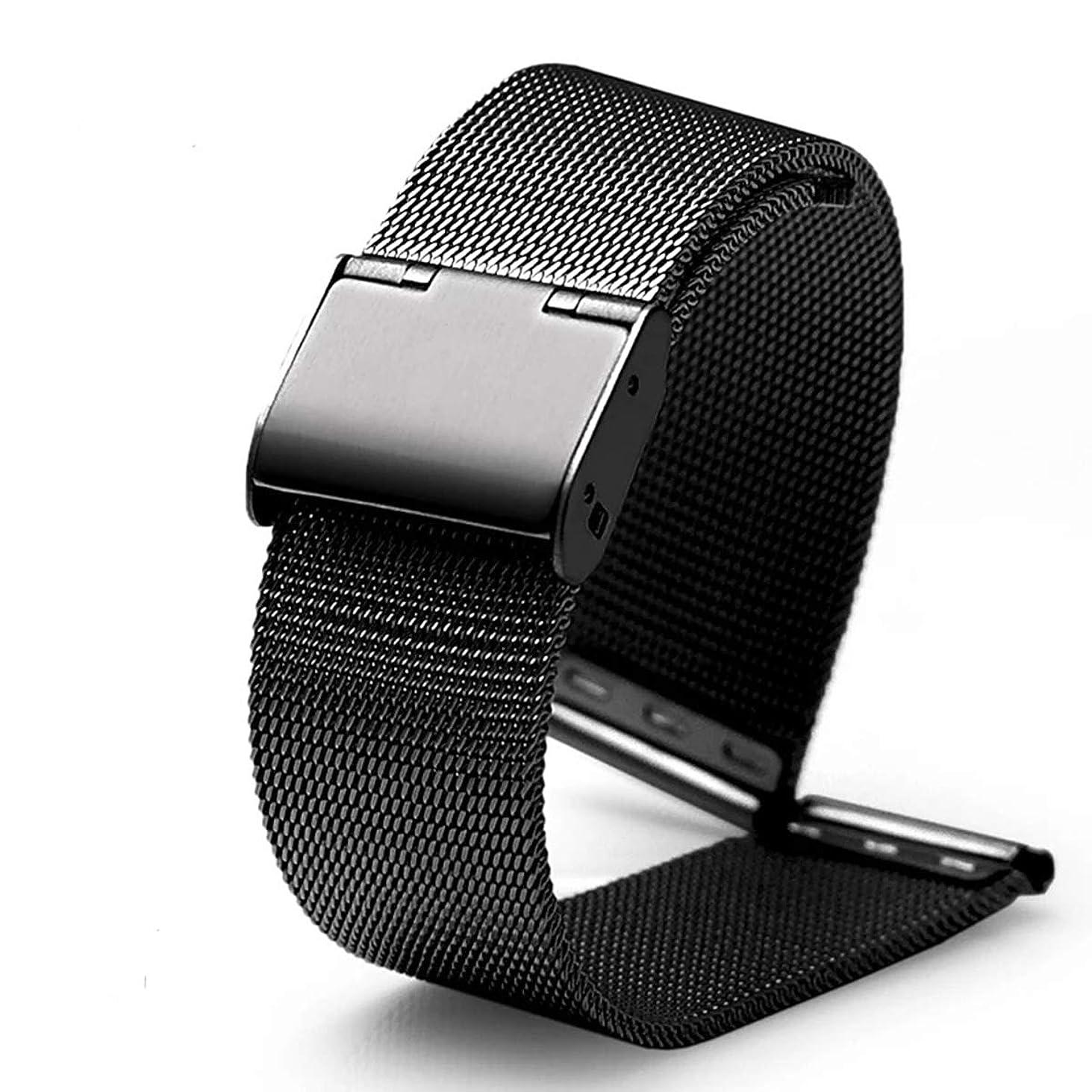 によって親指ゴミ箱DL時計ベルト, Milanese Meshステンレススチールメタルで使用可能な交換用のバンドブレスレットメンズレディース腕時計、ブラック、シルバー、18 mm / 20 mm / 22 mm