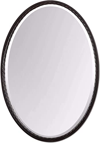 new arrival Uttermost 01116 Casalina Oil outlet sale Rubbed Oval 2021 Mirror, Bronze sale