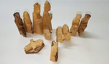 Olive Wood Children's Nativity Set (12 Pieces Set) - 3 Inch Set by Bethlehem Gifts TM