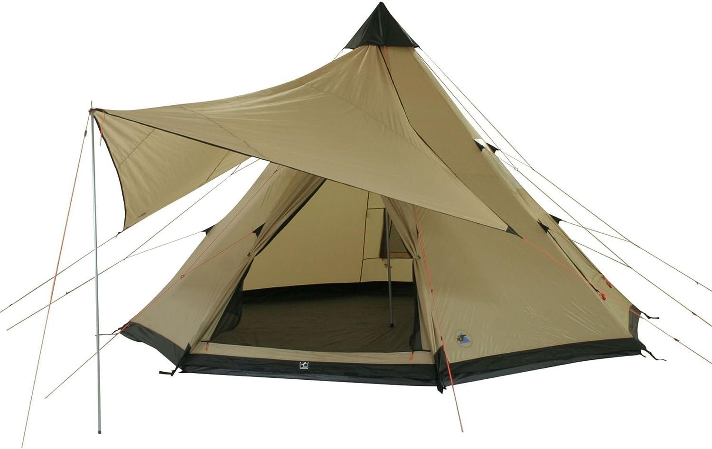 10T Campingzelt Shoshone 400 wasserdichtes XXL Tipi Zelt 4 - 8 Mann Indianerzelt Ø 4m  Sonnensegel B004WZEKIC  Die Farbe ist sehr auffällig