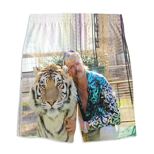 Tiger King Joe Exotic President 2020 Youth Swim Trunk Summer Shorts Beach Casual Pants Quick Dry
