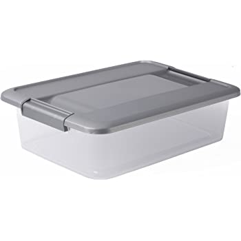 Sundis KLIKER Box A4 Flat Argent Caja con Tapa Metalizada Y ...