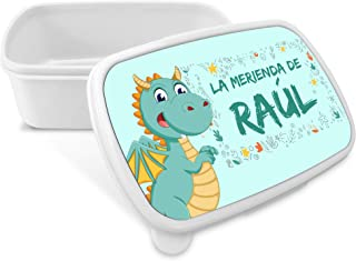 Caja de Merienda Dragón Personalizada con Nombre/Curso.