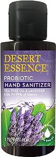 Desert Essence Probiotic Hand Sanitizer w/Tea Tree Oil - 1.7 fl oz - Elderberry - Echinacea - Soft & Moisturized