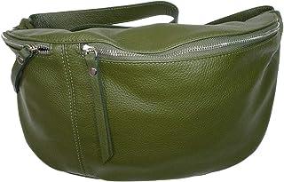 Italy borse in pelle echt Leder Damen Handtasche| XXL crossover Body Bag in Metallic Look| Umhängetasche mit verstellbaren...