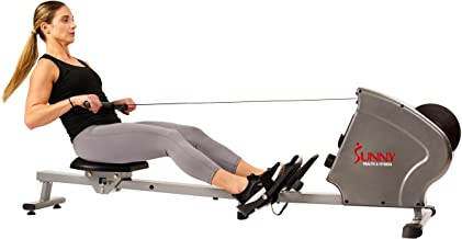 Sunny Health & Fitness SF-RW5856 Magnetic Rowing Machine Rower with 11 LB Flywheel, 285 LB Max Weight, LCD Monitor and Tablet/iPad Holder