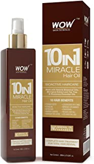 WOW Miracle Hair Oil - Reduce Hair Loss, Split Ends, Dandruff - Smooth, Thick Hair - Boost Hair Growth & Stronger Roots - Deep Clean For Healthy Scalp - All Hair Types, Adults & Children - 200 mL