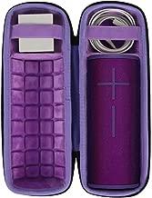 co2crea Hard Travel Case for Ultimate Ears UE Boom 3 Portable Bluetooth Wireless Speaker (Black Case + Inside Ultraviolet Purple)