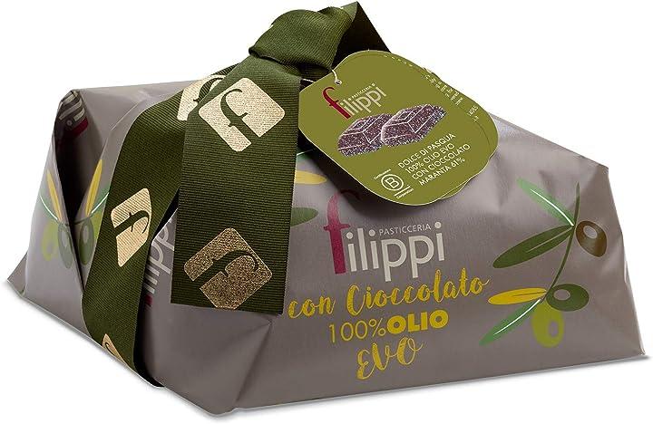Colomba pasquale - 100% olio evo con gocce di cioccolato vidama pasticceria filippi 750 g - dolce di pasqua B07PKBZKJC