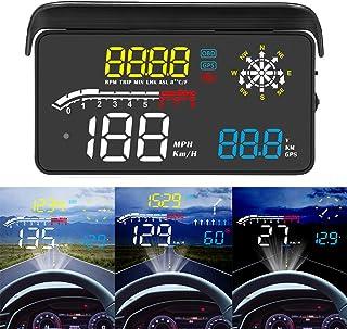 ACECAR Upgrade Car Universal Navigation Version Head Up Display OBD II/GPS Dual System HUD Support Google Map,Direction,Sp...
