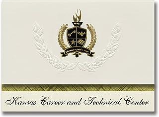 Signature Ankündigungen Kansas Karriere und technische Center (Memphis, TN) Graduation Ankündigungen, Presidential Elite Pack 25 mit Gold & Schwarz Metallic Folie Dichtung B078VDMH2C  Schöne Farbe