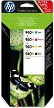 TINTA ORIGINAL HP Nº 940XL PACK 4 COLORES PARA HP OFFICEJET PRO 8000, 8500, 8500A, 8500A PLUS