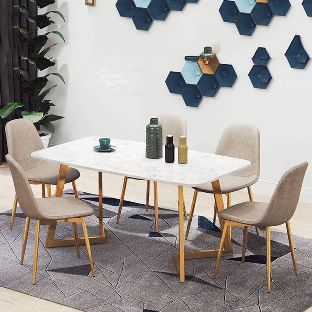 HEJINXL Chaise Cuisine Salle Manger Chaises Doux Vivant Pièce Pour Bureau Accueil Salon Confortable Cuir Siège (vert) (Color : A) B