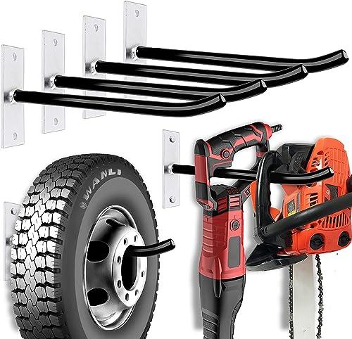 2021 HORUSDY 4PC Tire Storage Rack, online sale 110lbs, Heavy Duty Steel Garage Wall outlet sale Mount Tire Storage Rack online