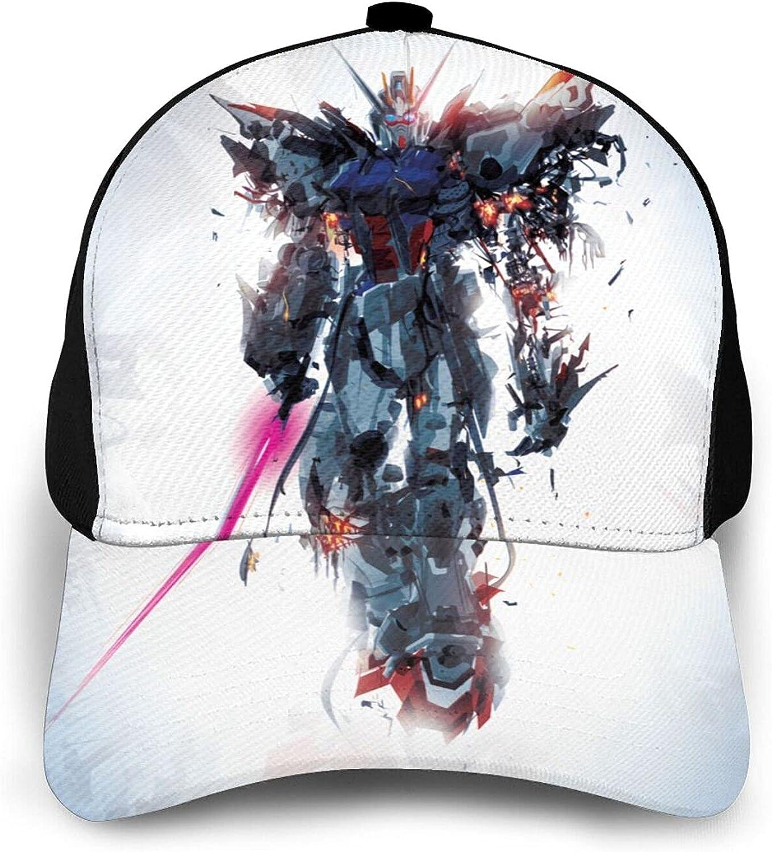 Gundam Baseball Cap Fashion Dad Hat Outdoor Uv Protection Caps Adjustable Black